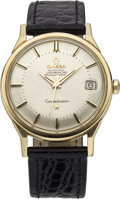 Timepieces:Wristwatch, Omega Gold Constellation Automatic with Date, circa 1958. ...