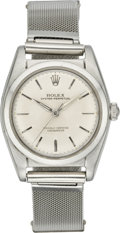 Timepieces:Wristwatch, Rolex Ref. 5050 Steel Bubble back, circa 1957. ...