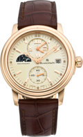 Timepieces:Wristwatch, Blancpain Limited Edition Rose Gold Double Time Zone Watch with Day/Night Indicator, no. 186/333, modern. ...