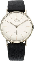 Timepieces:Wristwatch, LeCoultre Gent's White Gold Wristwatch, circa 1960's. ...