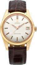 Timepieces:Wristwatch, Omega Rose Gold Seamaster Automatic, circa 1962. ...