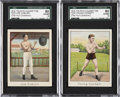"Boxing Cards:General, 1910 T220 Tolstoi ""Champions"" Graded SGC 80 EX/NM 6 Pair (2)...."