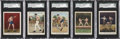 """Boxing Cards:General, 1910 T220 Tolstoi White Border """"Champion Athlete and Prize Fighter Series"""" SGC-Graded Group of (7)...."""