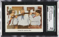 "Non-Sport Cards:Singles (Post-1950), 1959 Fleer Three Stooges #96 ""Trying The Squeeze Play"" SGC 96 MINT 9...."