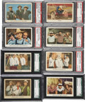 "Non-Sport Cards:Lots, 1959 Fleer ""Three Stooges"" High End Graded Collection (8)...."