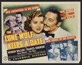 "Movie Posters:Mystery, The Lone Wolf Keeps a Date (Columbia, 1940). Lobby Card Set of 8(10.75"" X 13.5""). Mystery.. ... (Total: 8 Items)"