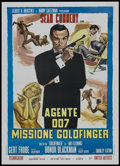 "Movie Posters:James Bond, Goldfinger (United Artists, R-1970s). Italian 2 - Folio (39"" X55""). James Bond.. ..."