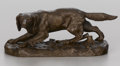 Sculpture, After JULES MOIGNIEZ (French, 1835-1894). Setter. Bronze. 3-1/2 x 10 x 4 inches (8.9 x 25.4 x 10.2 cm) . Signed on base:...