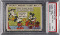"Non-Sport Cards:Singles (Pre-1950), 1935 R89 Mickey Mouse-Type 2 #5 ""Looks Funny..."" PSA NM 7 - Pop 2,Two Higher! ..."