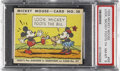 "Non-Sport Cards:Singles (Pre-1950), 1935 R89 Mickey Mouse-Type 2 #58 ""Look, Mickey Foots The Bill"" PSANM-MT 8...."