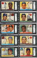 Baseball Cards:Sets, 1955 Topps Baseball High Grade Complete Set (206). ...