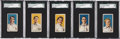 Baseball Cards:Lots, 1910 E104-1 Nadja Caramels SGC-Graded Group of (5 Different)Including Plank!...