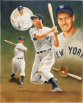 Baseball Collectibles:Others, 1987 Joe DiMaggio Original Artwork by Christopher Paluso. ...