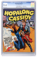 Golden Age (1938-1955):Western, Hopalong Cassidy #1 (Fawcett, 1943) CGC NM 9.4 Off-white to whitepages....