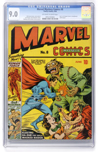 Marvel Mystery Comics #8 (Timely, 1940) CGC VF/NM 9.0 Off-white to white pages