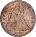 Seated Dollars, 1862 $1 MS64 PCGS....