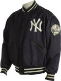 Baseball Collectibles:Uniforms, 1973 Thurman Munson Game Worn Jacket. ...