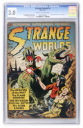 Golden Age (1938-1955):Science Fiction, Strange Worlds #3 (Avon, 1951) CGC GD/VG 3.0 Cream to off-whitepages....