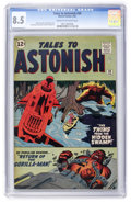 Silver Age (1956-1969):Science Fiction, Tales to Astonish #30 (Marvel, 1962) CGC VF+ 8.5 Cream to off-whitepages....