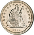 Seated Quarters, 1840 25C MS65 NGC....