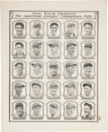 Autographs:Others, 1926 New York Yankees Team Signed World Series Program Page....