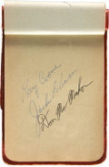 Autographs:Others, Early 1950's Baseball Autograph Book with Jackie Robinson,Mantle....