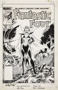 Original Comic Art:Covers, John Byrne and Jerry Ordway Fantastic Four #281 CoverOriginal Art (Marvel, 1985)....
