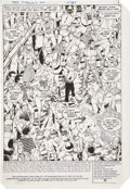 Original Comic Art:Splash Pages, George Perez and Romeo Tanghal New Teen Titans #31 SplashPage 1 Original Art (DC, 1983)....