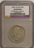 Coins of Hawaii: , 1883 50C Hawaii Half Dollar--Improperly Cleaned--NCS. AU Details.NGC Census: (19/222). PCGS Population (47/314). Mintage: ...