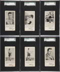 Boxing Cards:General, 1927 F52 Fro-Joy Gene Tunney SGC-Graded Complete Set (6)....