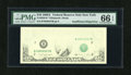 Error Notes:Missing Face Printing (<100%), Fr. 2028-B $10 1988A Federal Reserve Note. PMG Gem Uncirculated 66EPQ.. ...