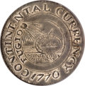 Colonials, 1776 $1 Continental Dollar, CURRENCY, Pewter--Obverse Damage--NCS.Unc Details....