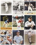 Autographs:Photos, Baseball Superstars Signed Photographs Lot Of 25....