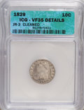 Bust Dimes, 1829 10C Small 10C--Cleaned--VF35 ICG. VF35 Details. JR-3. NGCCensus: (3/219). PCGS Population (3/185). Mintage: 770,000. ...