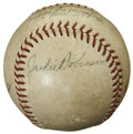 Autographs:Baseballs, Jackie Robinson and Others Multi-Signed Baseball. ...