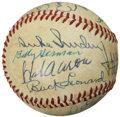 Autographs:Baseballs, Hal Of Fame Signed Baseball....