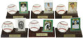 Autographs:Baseballs, New York Yankee Single Signed Baseball Lot Of 6....