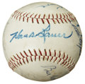 Autographs:Baseballs, Baseballs Stars Group Signed Baseball....