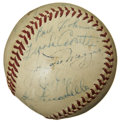Autographs:Baseballs, 1947 New York Yankees Team Signed Baseball. ...