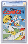Golden Age (1938-1955):Cartoon Character, Walt Disney's Comics and Stories #42 (Dell, 1944) CGC VF- 7.5 Cream to off-white pages....