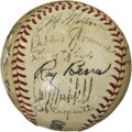 Autographs:Baseballs, Early 40's New York Giants Team Signed Baseball. ...