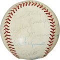 Autographs:Baseballs, 1975 New York Yankees Team Signed Baseball. ...