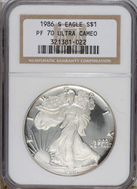 1986-S $1 Silver Eagle PR70 Ultra Cameo NGC....(PCGS# 9802)