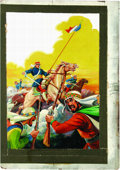 "Original Comic Art:Covers, Alex Blum - Classics Illustrated #86 ""Under Two Flags"" Painted Cover Original Art (Gilberton, 1951). ..."