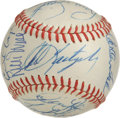 Autographs:Baseballs, 1975 Boston Red Sox Team Signed Baseball. After knocking off ALcompetition and earning the pennant with relative ease, the...