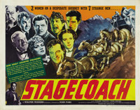 "Stagecoach (United Artists, 1939). Half Sheet (22"" X 28"")"