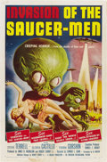 "Movie Posters:Science Fiction, Invasion of the Saucer-men (American International, 1957). One Sheet (27"" X 41""). ..."