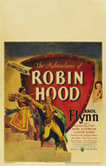 "Movie Posters:Adventure, The Adventures of Robin Hood (Warner Brothers, 1938). Window Card(14"" X 22""). ..."