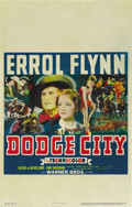 "Movie Posters:Western, Dodge City (Warner Brothers, 1938). Window Card (14"" X 22"")...."