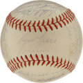 Autographs:Baseballs, 1959 Kansas City Athletics Team Signed Baseball with Maris. Signedwhile he was still a member of the Athletics and the yea...